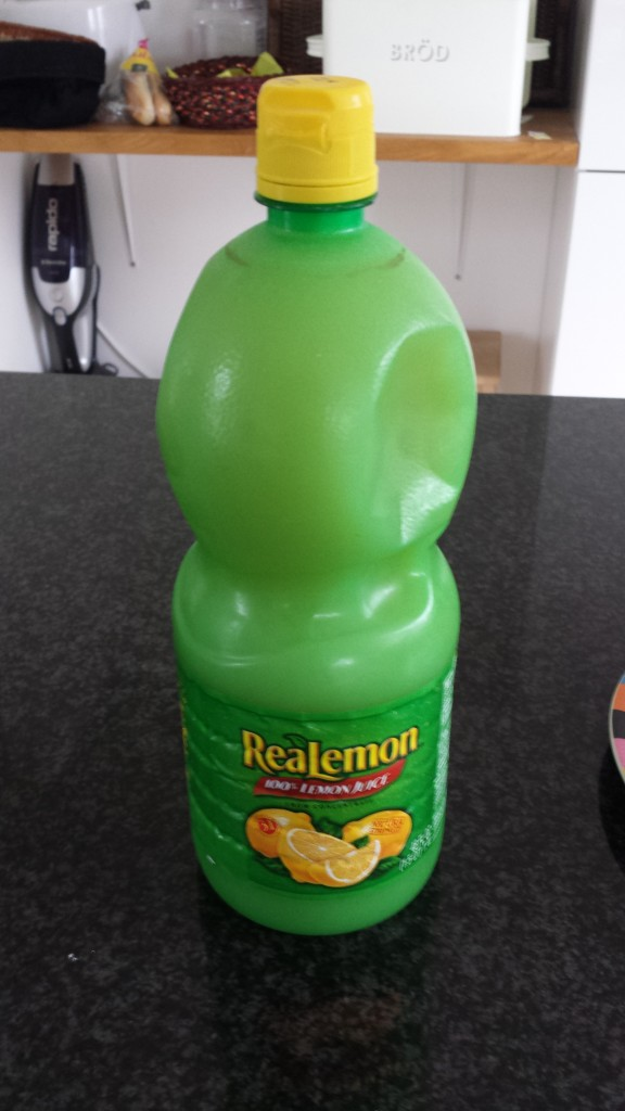 48oz of real lemon is perfect for half a batch of pee